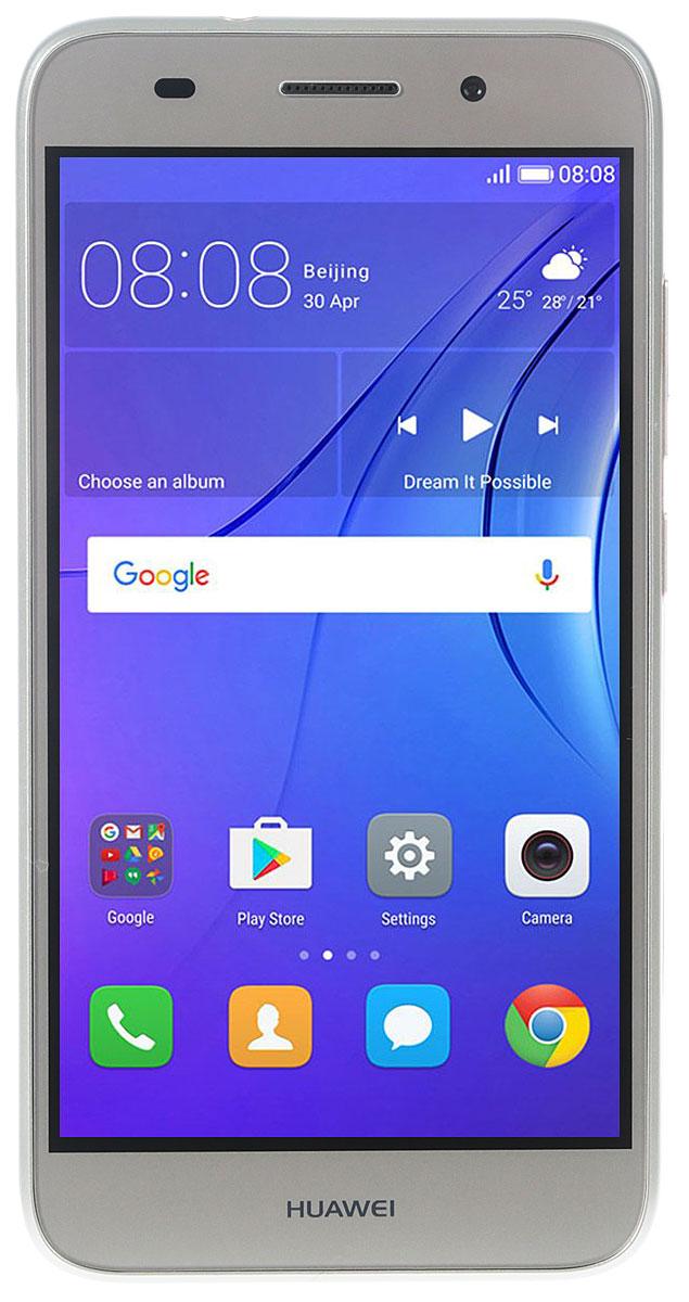 Huawei Y3 2017 (CRO-U00), GoldT036457Huawei Y3 2017 - стильный и недорогой смартфон с широкими возможностями.Черытехъядерный процессор MediaTek MT6580M с частотой 1.3 ГГц и оперативная память 1 ГБ позволяют использовать все современные мобильные приложения.Коммуникационные возможности представлены Bluetooth 4.0, Wi-Fi 802.11 b/g/n при помощи которых можно воспользоваться беспроводной гарнитурой или подключиться к интернету. Также Huawei Y3 2017 не даст вам заблудится в городе и всегда укажет дорогу благодаря функции GPS. Модель оборудована стандартными разъемами - 3.5 мм для подключения наушников и microUSB - для зарядки и присоединения к USB-порту компьютера.Huawei Y3 2017 также обладает функциональным мультимедиа-плеером, способным воспроизводить аудио и видео-файлы самых популярных форматов. Девайс обладает двумя слотами для SIM-карт, слотом для карт памяти microSD (до 128 ГБ).Смартфон оснащен двумя камерами: основной на 8 мегапикселей и фронтальной на 2 мегапикселя. Основная камера отлично справляется со съемкой в слабо освещенных местах, а фронтальная идеально подойдет для видеозвонков и селфи.Телефон сертифицирован EAC и имеет русифицированный интерфейс меню, а также Руководство пользователя.