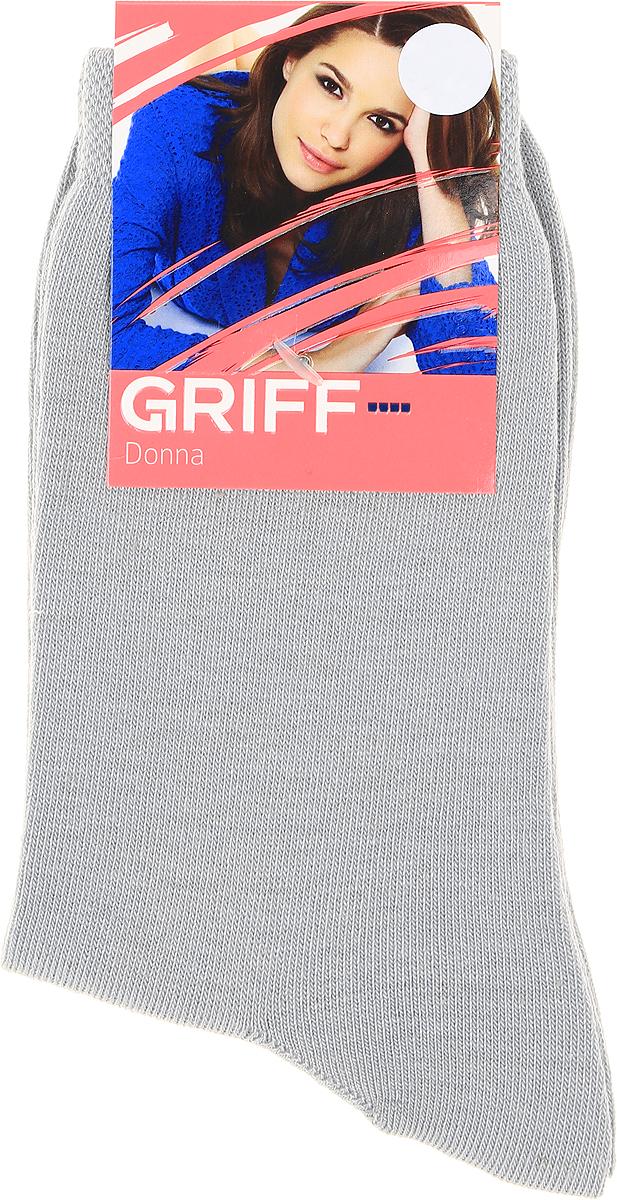 Носки женские Griff, цвет: светло-серый. D4O3. Размер 39/41D4O3Носки Griff изготовлены качественного эластичного материала. Модель средней длины имеет мягкую комфортную резинку.