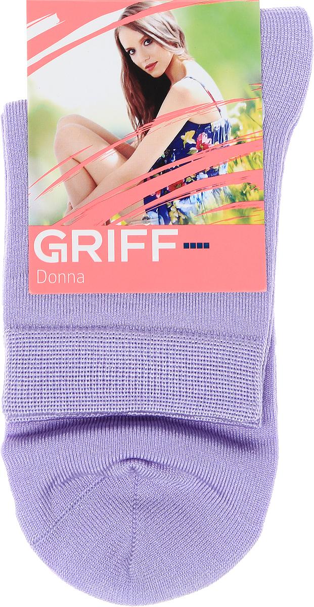 Носки женские Griff, цвет: фиолетовый. D4O4. Размер универсальныйD4O4Всесезонные эластичные женские носки от Griff выполнены из вискозы. С комфортной резинкой, усилением пятки и мыска, с кеттельным швом.