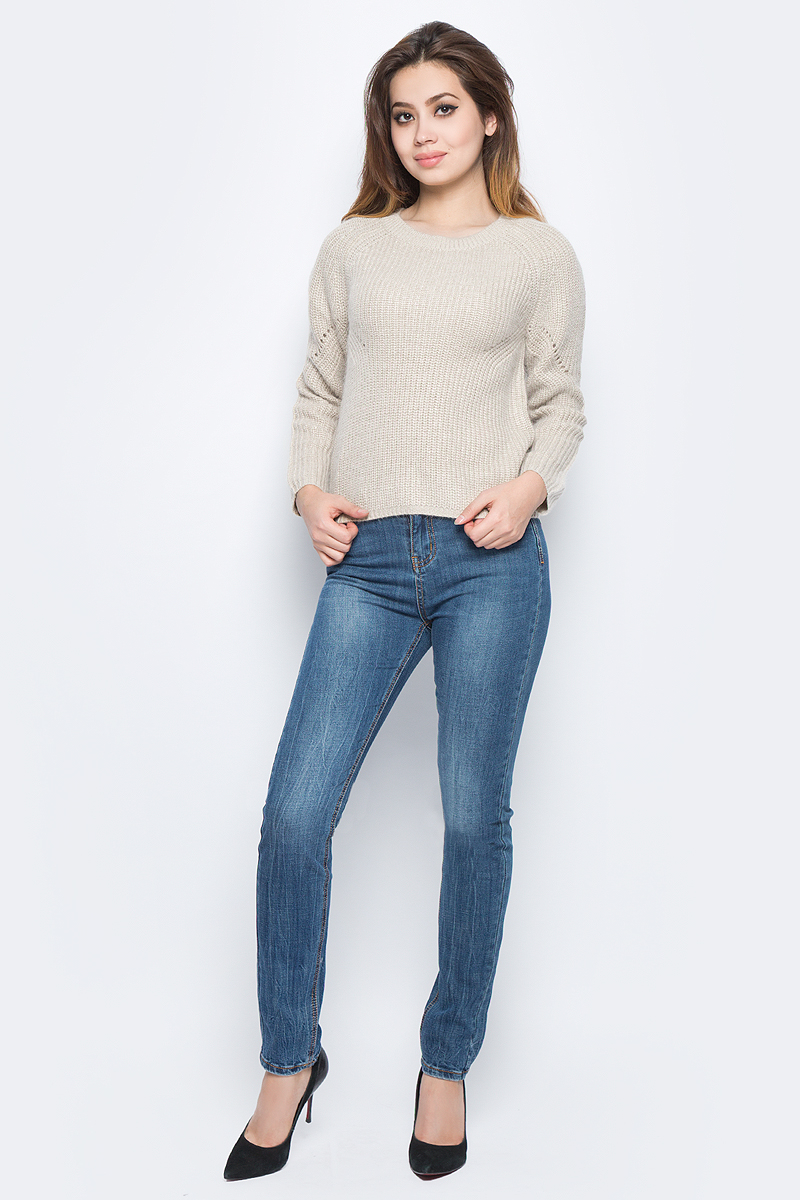 Джемпер женский Baon, цвет: бежевый. B137599_Oyster. Размер XS (42)B137599_Oyster