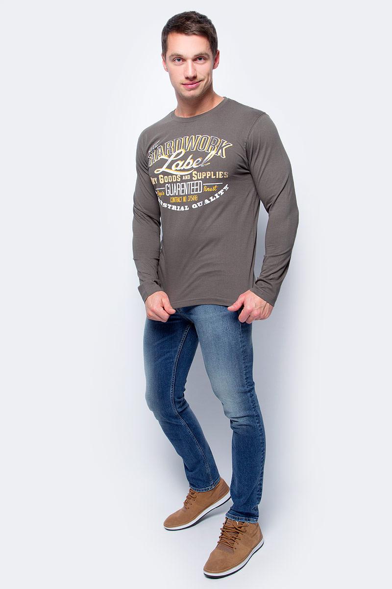 Лонгслив мужской Baon, цвет: серый. B717503_Nut. Размер M (48)B717503_NutМодный мужской лонгслив Baon изготовлен из 100% натурального хлопка. Модель с круглым вырезом горловины и длинными стандартными рукавами великолепно подойдет для создания современного образа в стиле casual.