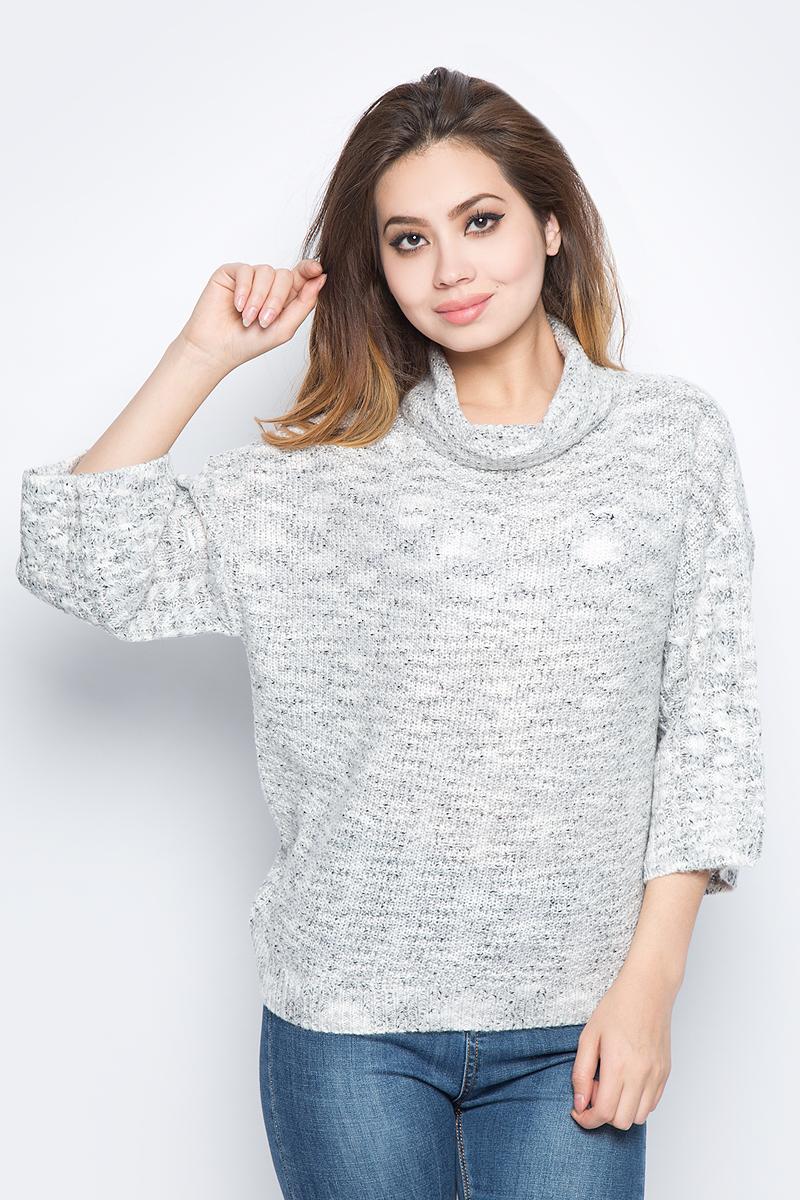 Джемпер женский Baon, цвет: серый. B137549_Silver Melange. Размер M (46)
