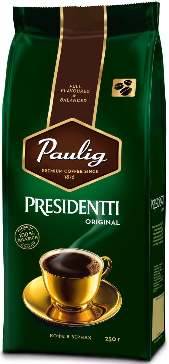 Paulig Presidentti Original кофе в зернах, 250 г молотый кофе paulig presidentti tumma 1 кг