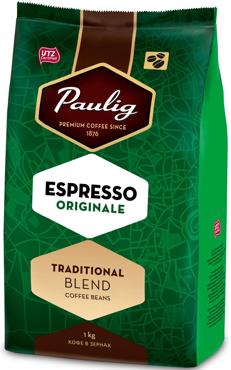 Paulig Espresso Originale кофе в зернах, 1 кг16283/16278Кофе в зернах Paulig Espresso Originale - это высококачественный кофе итальянского типа с нежным и в тоже время крепким вкусом для приготовления эспрессо. Изготовлен из сладких бразильских и отборных центрально американских сортов. Эспрессо имеет повышенную плотность и насыщенность.Кофе: мифы и факты. Статья OZON Гид