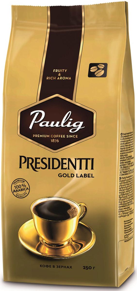 Paulig Presidentti Gold Label кофе в зернах, 250 г16Paulig Presidentti Gold Label - уникальный кофе, приготовленный из смеси редких кофейных зерен. Тщательно отобранные кофейные зерна из Папуа – Новой Гвинеи дарят напитку мягкий, бархатистый вкус. Благодаря легкой обжарке достигается богатый, неповторимый аромат.
