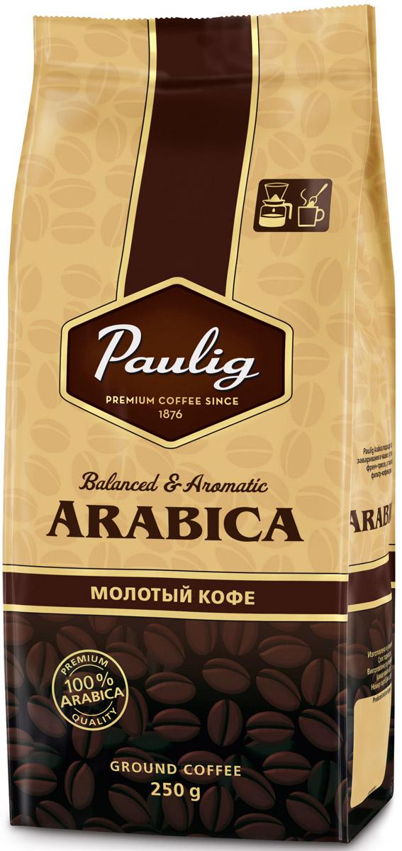 Paulig Arabica кофе молотый, 250 г16609Paulig Arabica – это прекрасно сбалансированная смесь тщательно отобранных кофейных зерен из Южной и Центральной Америки. Все богатство аромата медленно созревающих зерен из Центральной Америки в сочетании со сладкими нотами и бархатистым вкусом бразильских сортов гарантируют вам наслаждение.
