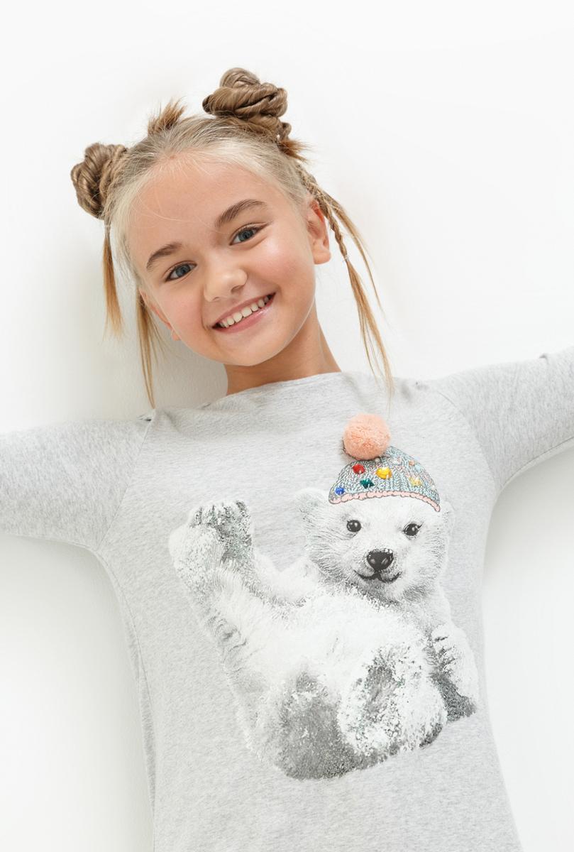 Джемпер для девочки Acoola Latin, цвет: светло-серый. 20210100143. Размер 164 джемпер для девочки acoola furia цвет бежевый 20210310023 800 размер 140