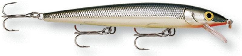 Воблер Rapala. HJ10-SHJ10-SБлагодаря своим неподражаемым движениям и нейтральной плавучести, этот воблер является несомненным шедевром. При движении он издает звуковые колебания, чем способен привлечь даже неактивную рыбу. На паузе эта приманкастремится оставаться в толще воды, соблазняя хищную рыбу.