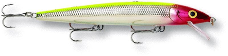 Воблер Rapala. HJ12-CLNHJ12-CLNБлагодаря своим неподражаемым движениям и нейтральной плавучести, этот воблер является несомненным шедевром. При движении он издает звуковые колебания, чем способен привлечь даже неактивную рыбу. На паузе эта приманкастремится оставаться в толще воды, соблазняя хищную рыбу.