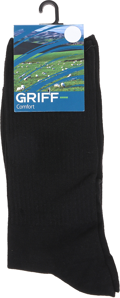 Носки мужские Griff Comfort Bamboo, цвет: черный. D2. Размер 39/41D2Всесезонные эластичные гладкие носки от Griff выполнены из бамбука с широкой анатомической резинкой. С кеттельным швом, усилением пятки и мыска.