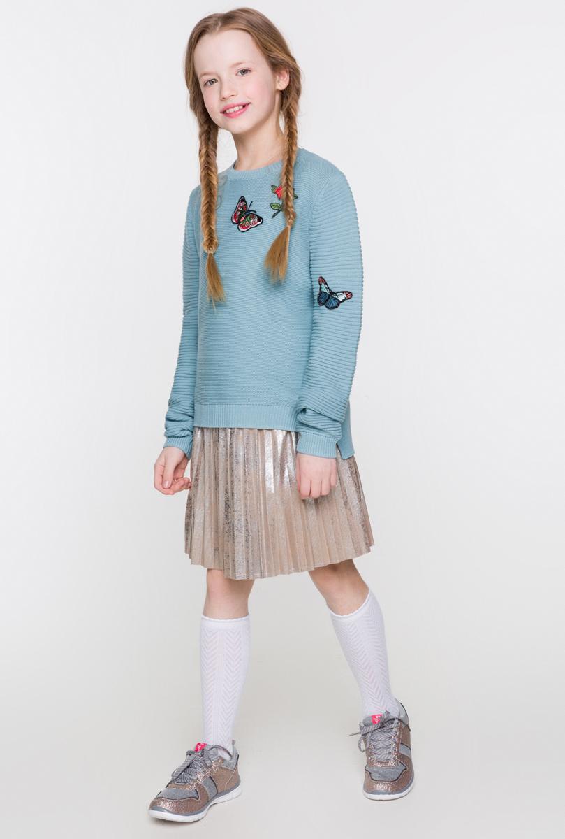 Юбка для девочки Acoola Fedra, цвет: золотистый. 20210180055. Размер 13420210180055Плиссированная юбка Acoola станет стильным дополнением к гардеробу юной модницы. Юбка выполнена из высококачественного материала. Обладательница этой юбки всегда будет в центре внимания!