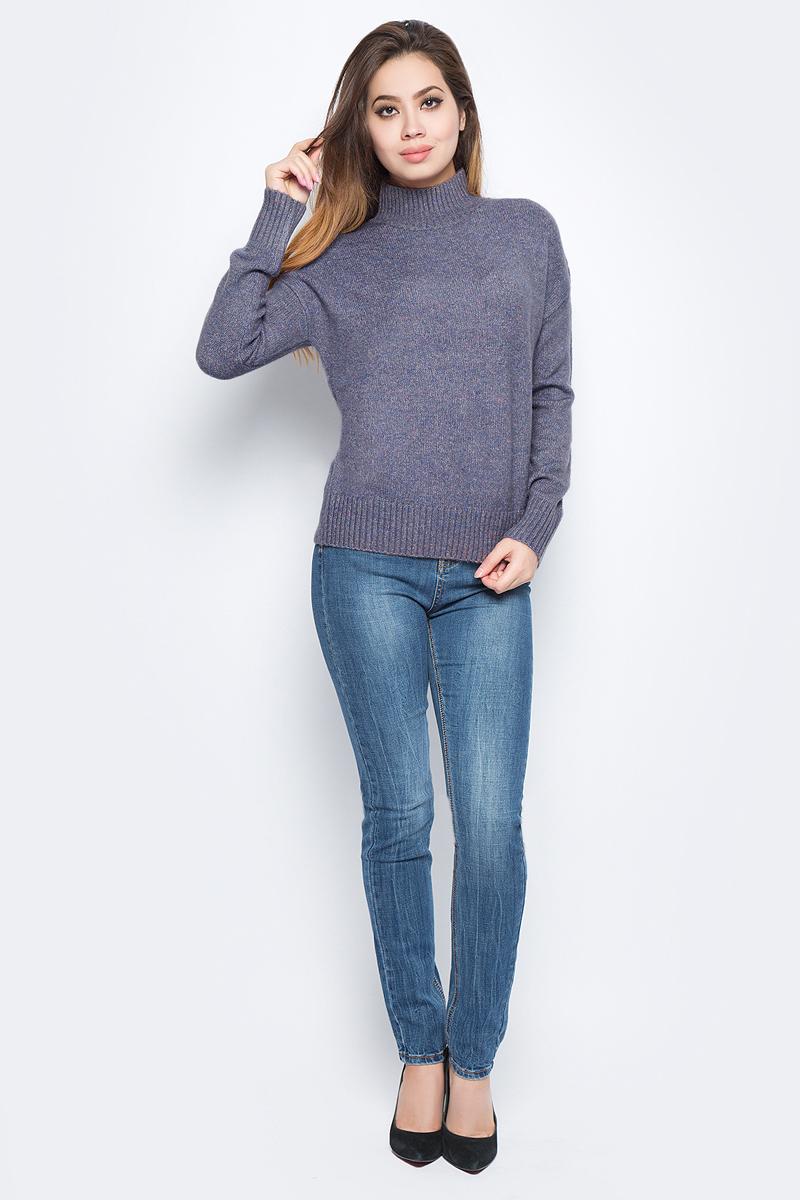 Джемпер женский Baon, цвет: сиреневый. B137582_Hyssop Melange. Размер L (48) платье baon цвет серый b457530 silver melange размер l 48