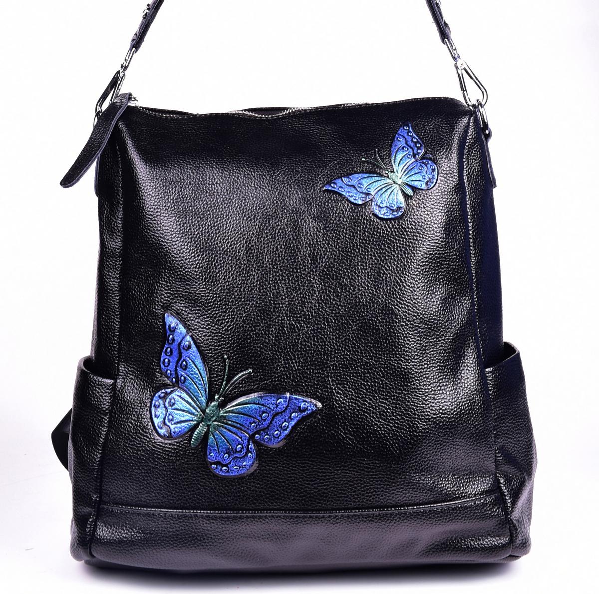 Сумка-рюкзак женская Baggini, цвет: черный. 28183/10