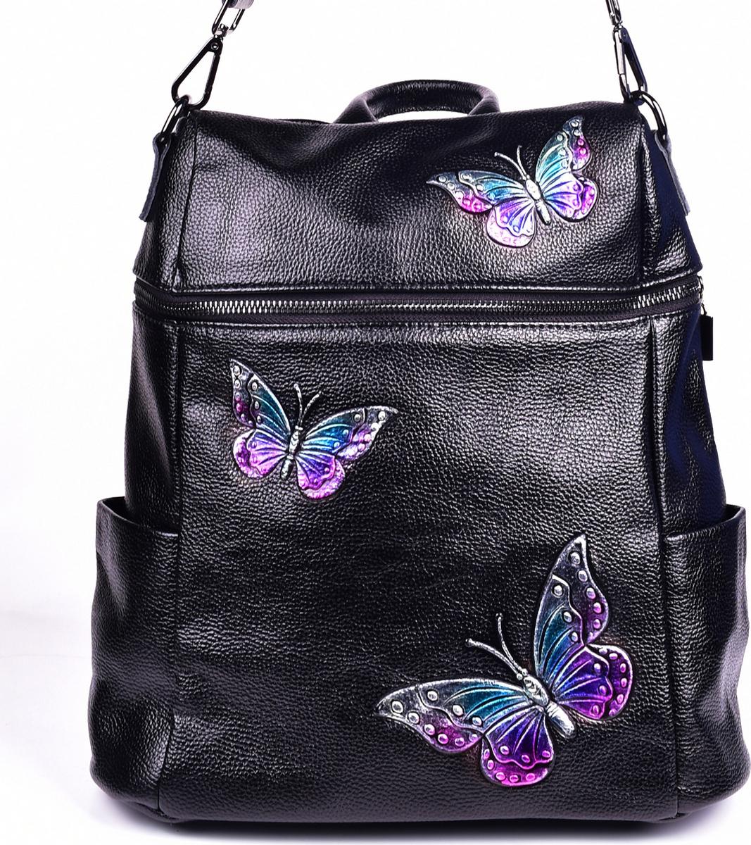Сумка-рюкзак женская Baggini, цвет: черный. 28182/10