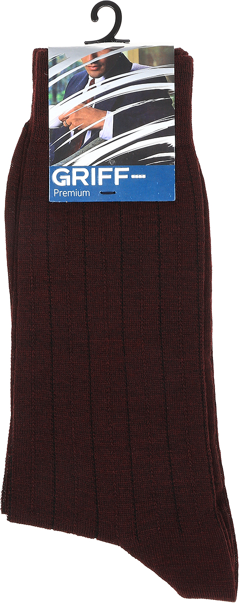 Носки мужские Griff Premium, цвет: бордо. W1. Размер 45/47 цена