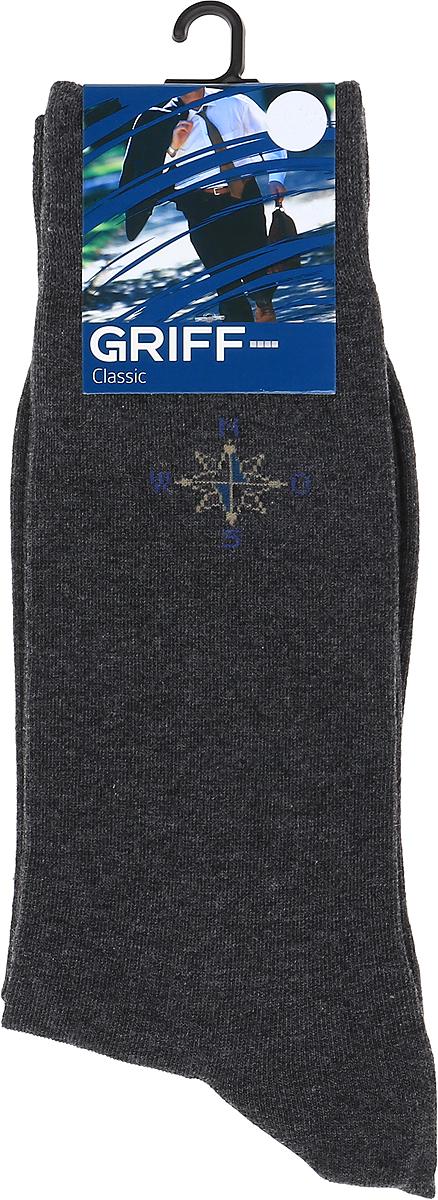 все цены на Носки мужские Griff Classic, цвет: темно-серый. Var.3. Размер 45/47 онлайн