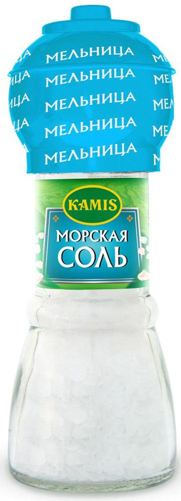 Kamis мельница морская соль, 90 г901257351Морская соль является более здоровым и полезным продуктом, чем другие существующие виды соли.Уважаемые клиенты! Обращаем ваше внимание на то, что упаковка может иметь несколько видов дизайна. Поставка осуществляется в зависимости от наличия на складе.