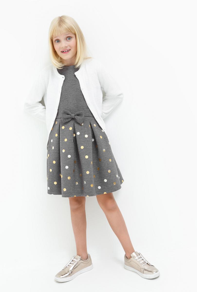 Платье для девочки Acoola Ilka, цвет: серый. 20210200183. Размер 16420210200183Платье для девочки Acoola выполнено из качественного материала. Модель без рукавов сзади застегивается на застежку молнию.