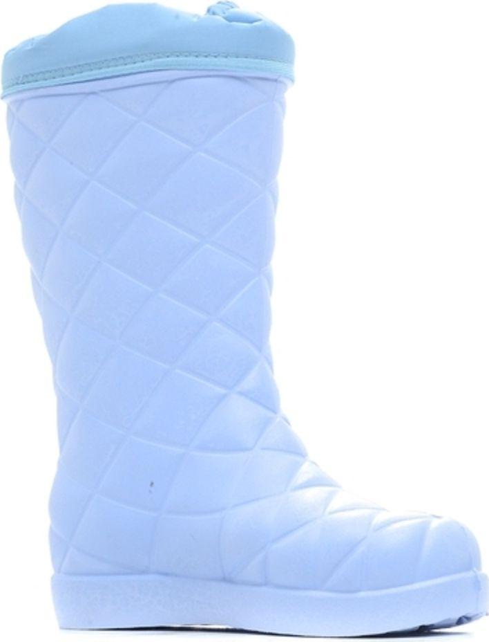 Сапоги для рыбалки женские Woodline, цвет: голубой. 64752. Размер 3964752Сапоги женские из ЭВА (морозостойкий материал). Манжета сапог, изготовленная из водоотталкивающей ткани «Оксфорд». Комплектуются вкладным чулком, изготовленным из 6-и слоёв на основе натуральных материалов с дополнительным усилением пяточной части.Температура тепла сохраняется до -45°С