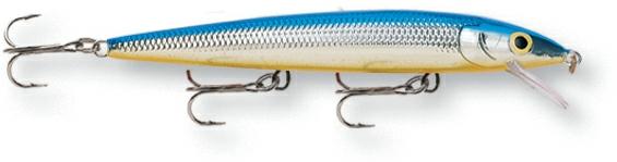 Воблер Rapala. HJ14-SBHJ14-SBБлагодаря своим неподражаемым движениям и нейтральной плавучести, этот воблер является несомненным шедевром. При движении он издает звуковые колебания, чем способен привлечь даже неактивную рыбу. На паузе эта приманкастремится оставаться в толще воды, соблазняя хищную рыбу.