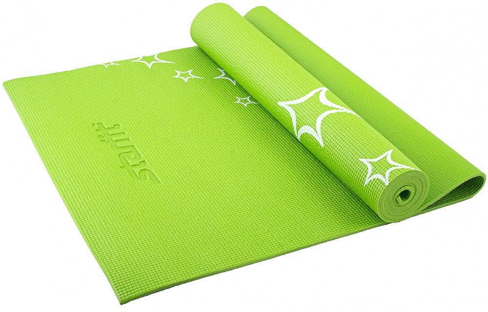 Коврик для йоги Starfit FM-102, цвет: зеленый, 173 х 61 х 0,4 смУТ-00007233Коврик для йоги Star Fit FM-102 - это незаменимый аксессуар для любого спортсмена как во время тренировки, так и во время пре-стретчинга (растяжки до тренировки) и стретчинга (растяжки после тренировки). Выполнен из высококачественного ПВХ и оформлен оригинальным рисунком в виде звезд. Коврик используется в фитнесе, йоге, функциональном тренинге. Его используют спортсмены различных видов спорта в своем тренировочном процессе.Предпочтительно использовать без обуви. Если в обуви, то с мягкой подошвой, чтобы избежать разрыва поверхности коврика.