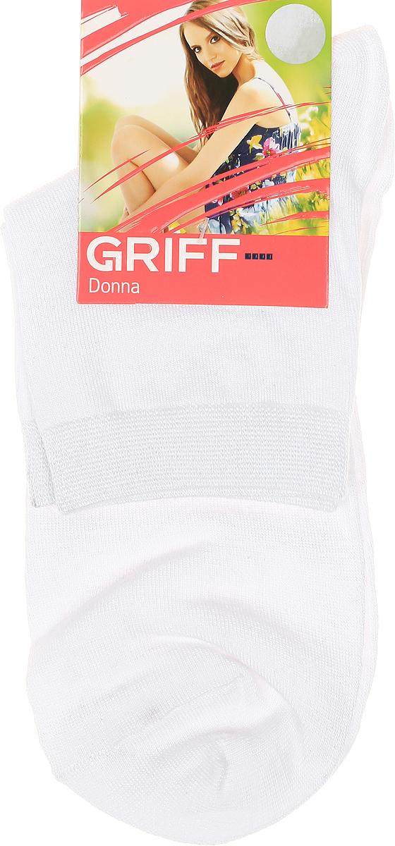 Носки женские Griff, цвет: белый. D4U7. Размер 35/38D4U7Носки Griff изготовлены качественного эластичного материала. Модель средней длины имеет мягкую комфортную резинку.