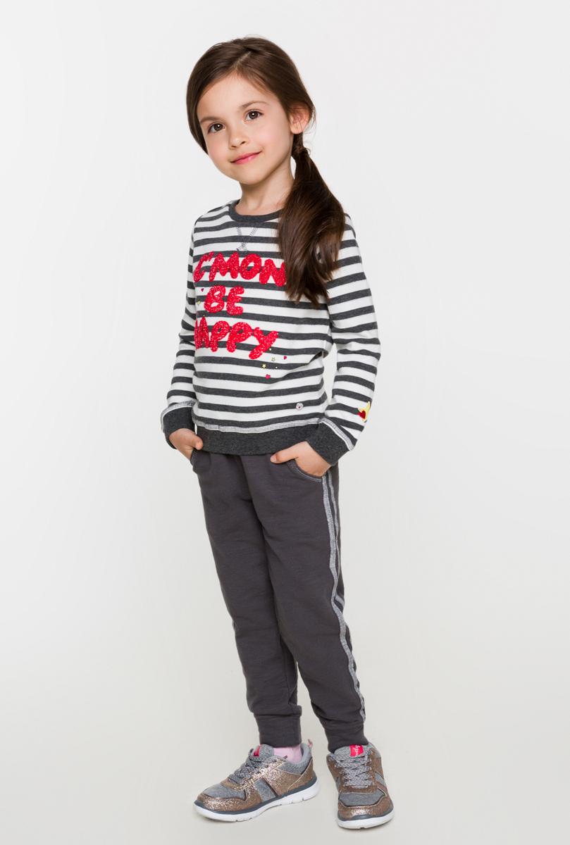 Свитшот для девочки Acoola Gulden, цвет: мультиколор. 20220100108. Размер 10420220100108Свитшот для девочки Acoola выполнен из качественного материала. Модель с круглым вырезом горловины и длинными рукавами.