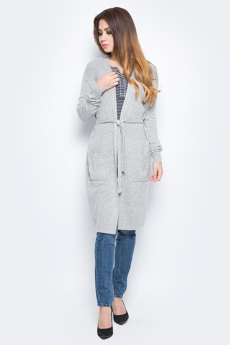 Кардиган женский Baon, цвет: серый. B147510_Zircon Melange. Размер L (48) платье baon цвет серый b457530 silver melange размер l 48
