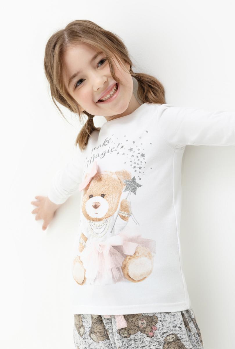 Джемпер для девочки Acoola Waltz, цвет: белый. 20220100129. Размер 128 джемпер для девочки acoola furia цвет бежевый 20210310023 800 размер 140
