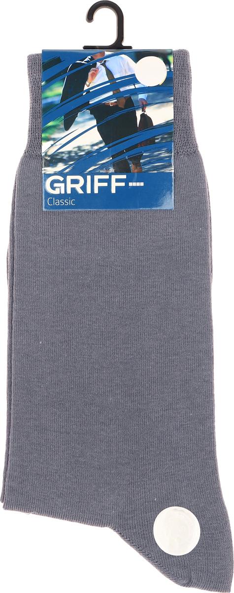 Носки мужские Griff Classic, цвет: темно-серый. Var.1. Размер 45/47Var.1Классические зимние гладкие мужские носки изготовлены из хлопка с добавлением эластана и полиамида. Носки с широкой комфортной резинкой.