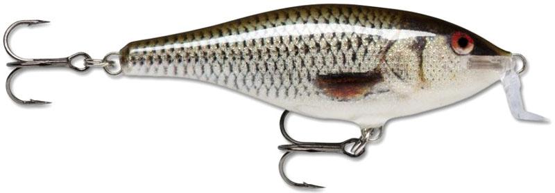 Воблер Rapala, плавающий, длина 7 см, вес 7 г. SSR07-ROLSSR07-ROLShallow Shad Rap является мелкопогружающейся версией воблера Shad Rap. Это эффективный воблер, который можно рекомендовать для ловли на воде с большим количеством растительности. Он эффективен как при рыбалке взаброс, так и при ловле троллингом.