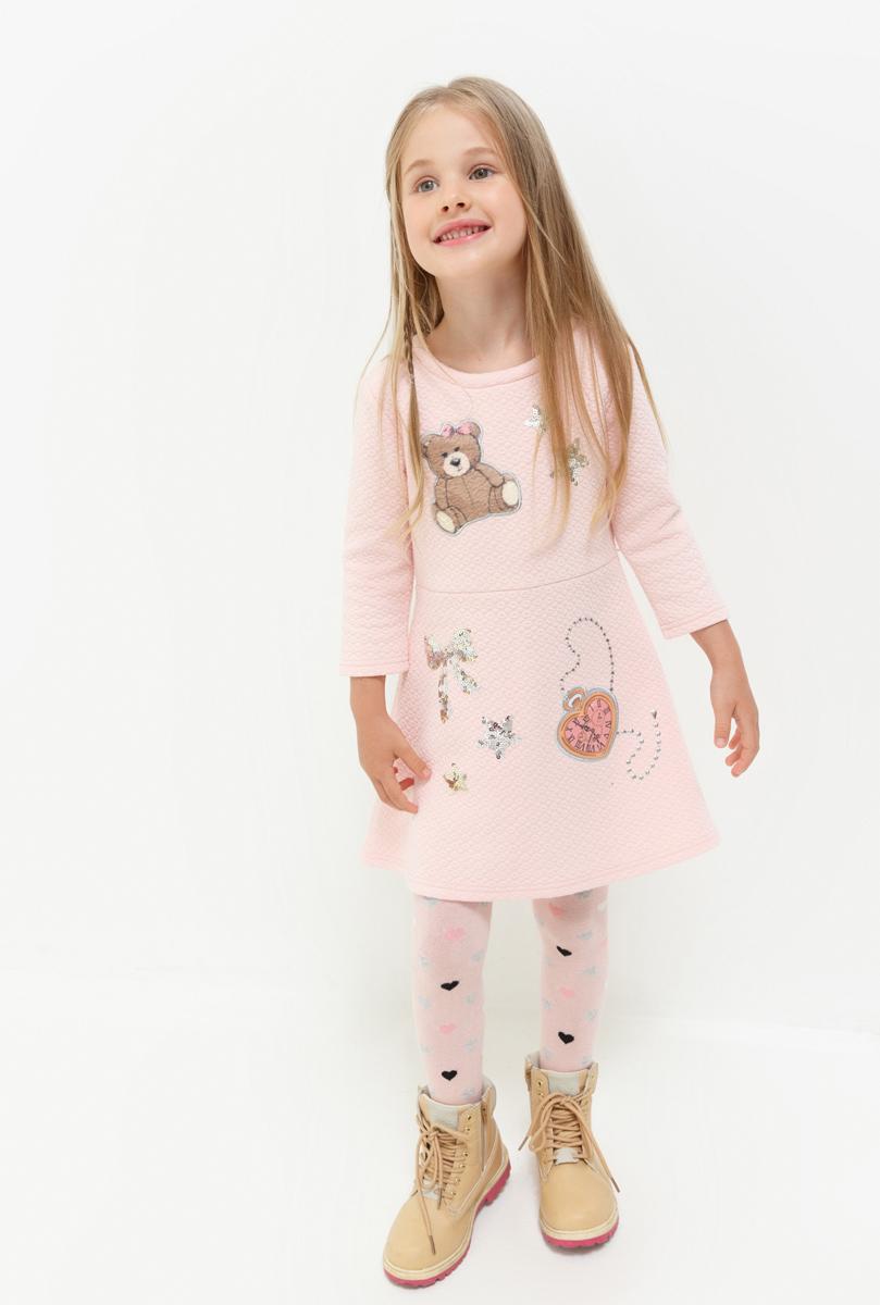 Платье для девочки Acoola Lempi, цвет: бледно-розовый. 20220200200. Размер 11620220200200Платье для девочки Acoola выполнено из качественного материала. Модель с круглым вырезом горловины сзади застегивается на застежку молнию.