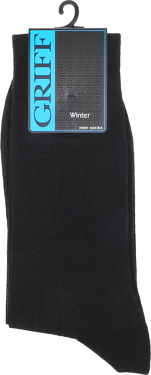 Носки мужские Griff Premium, цвет: черный. W1. Размер 45/47W1Зимние эластичные мужские носки линии Premium от Griff выполнены из тонкой шерсти, вывязанные техникой платировки. Носки с широкой резинкой. Усиленные пятка и мысок.