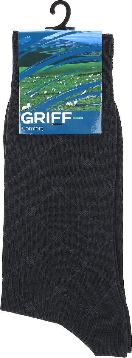 Носки мужские Griff Premium Bamboo, цвет: темно-серый. C4. Размер 39/41C4Всесезонные мужские носки линии Premium от Griff выполнены из бамбука c орнаментом. С кеттельным швом, широкой резинкой. Усиление пятки и мыска.