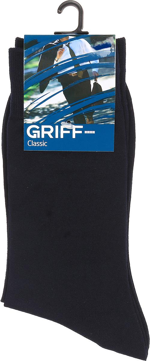 Носки мужские Griff Classic Bamboo, цвет: синий. B5. Размер 36/38B5Носки Griff изготовлены качественного эластичного материала на основе бамбукового волокна. Классическая модель средней длины имеет мягкую комфортную резинку.