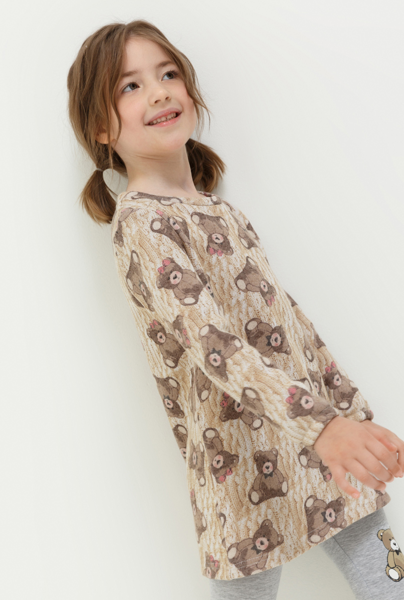 Платье для девочки Acoola Mambo, цвет: мультиколор. 20220200206. Размер 9820220200206Платье для девочки Acoola выполнено из качественного материала. Модель с круглым вырезом горловины оформлена оригинальным принтом.