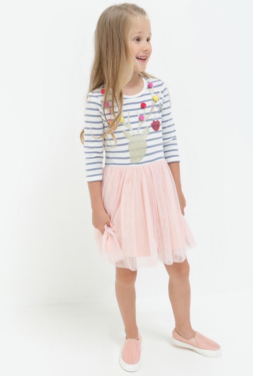 Платье для девочки Acoola Twist, цвет: мультиколор. 20220200208. Размер 11020220200208