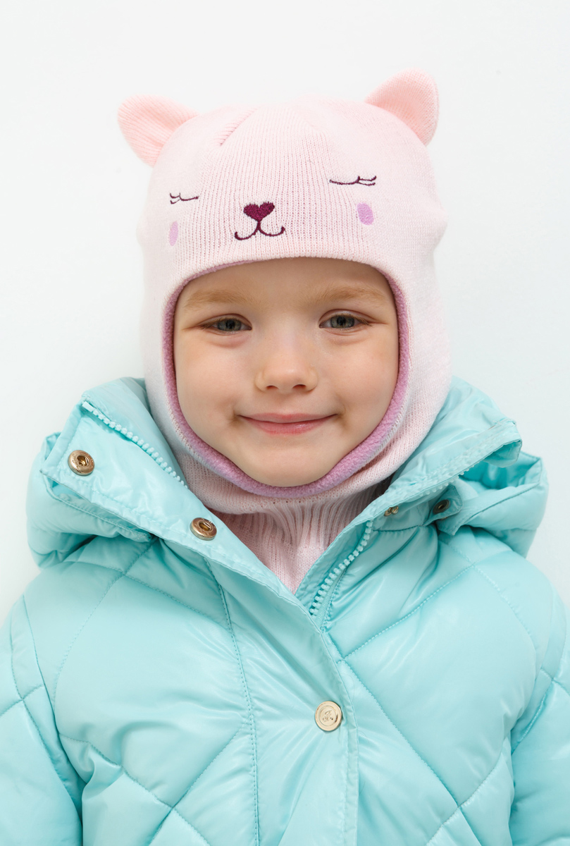 Шапка для девочки Acoola Yolo, цвет: светло-розовый. 20226400027. Размер XS (50)20226400027Шапка для девочки Acoola идеально подойдет для прогулок в прохладную погоду. Благодаря своему составу, она мягкая и приятная на ощупь, идеально прилегает к голове.Уважаемые клиенты!Размер, доступный для заказа, является обхватом головы.