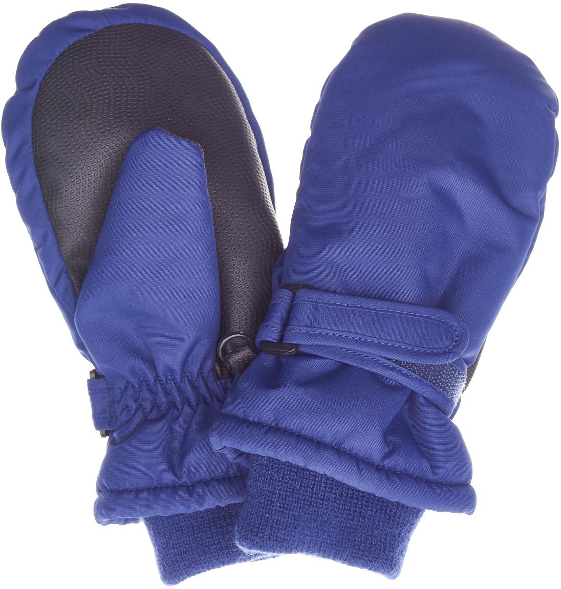 Варежки детские Button Blue, цвет: темно-синий. 217BBUA76011000. Размер 18217BBUA76011000Подбирая зимний функциональный гардероб для ребенка, не забудьте купить варежки из плащевки, ведь они - незаменимая вещь для прогулок в морозные дни! Непромокаемая плащевка, утяжка от продувания, протектор для прочности и износостойкости изделия позволят гулять в любую погоду, гарантируя тепло, уют и комфорт.