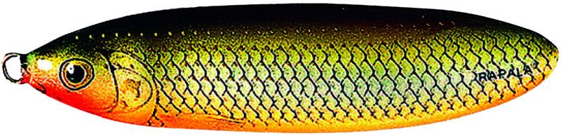 Блесна Rapala, незацепляйка, длина 8 см, вес 22 г. RMS08-RFSHRMS08-RFSHВеликолепная приманка с привлекательной и стабильной игрой не только при разных скоростях проводки, но и на паузе, когда приманка тонет, она соблазнительно покачивается, гипнотизируя любого хищника. Эффективная защитакрючка от зацепов позволяет рыбачить с ней даже в очень сильно заросших водоемах, как в пресной, так и соленой воде.