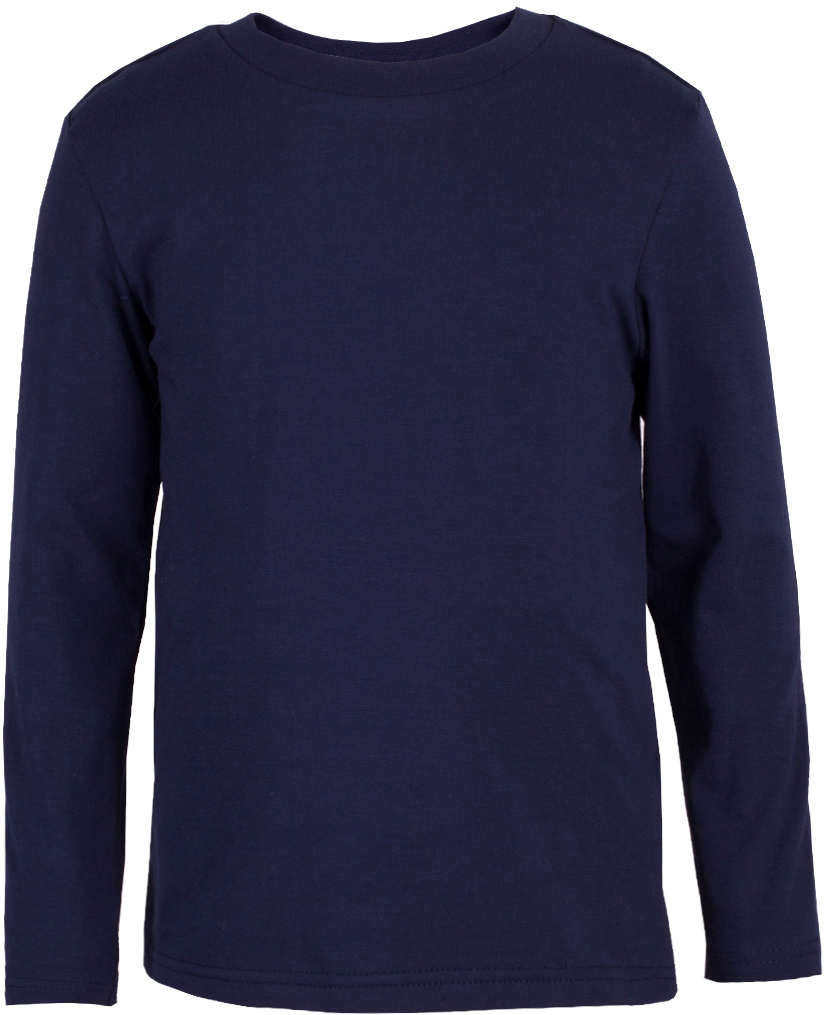 Футболка с длинным рукавом для мальчика Button Blue, цвет: синий. 217BBBC12074000. Размер 146, 11 лет217BBBC12074000Базовая футболка от Button Blue выполнена из эластичного хлопкового трикотажа. Модель с длинными рукавами и круглым вырезом горловины.