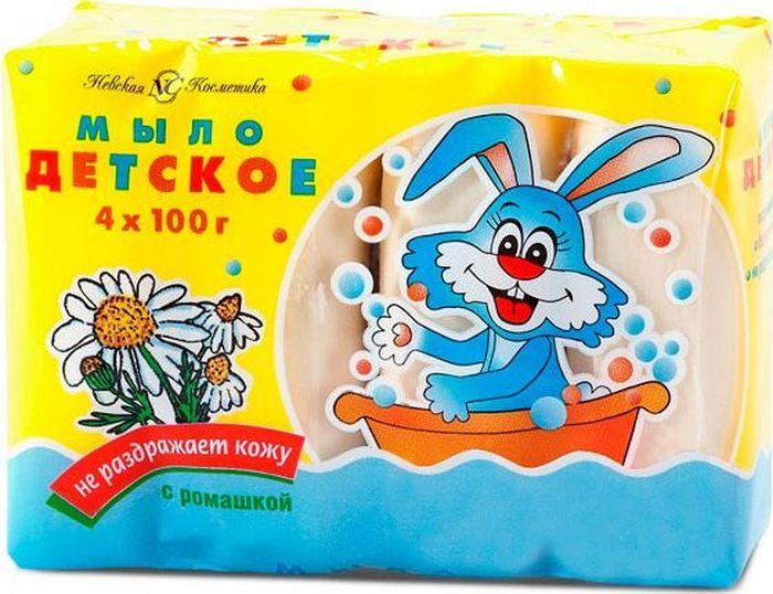 Невская косметика Мыло детское с ромашкой 100 г 4 шт свобода мыло детское с чистотелом 100 г