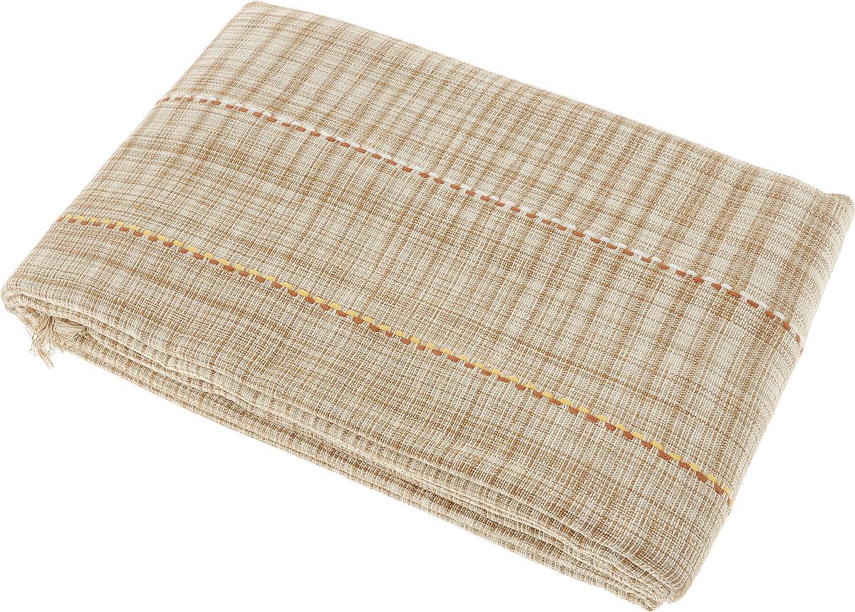 Покрывало Arloni, цвет: бежевый, коричневый, 225 х 270 см. 105/3/1ARL105/3/1ARLПокрывало Arloni изготовлено из экологически чистых материалов: хлопка (50%) и бамбука (50%), поэтому подходит как для взрослых, так и для детей. Оно будет хорошо смотреться и на диване, и на большой кровати. Покрывало Arloni не только подарит тепло, но и гармонично впишется в интерьер вашего дома.