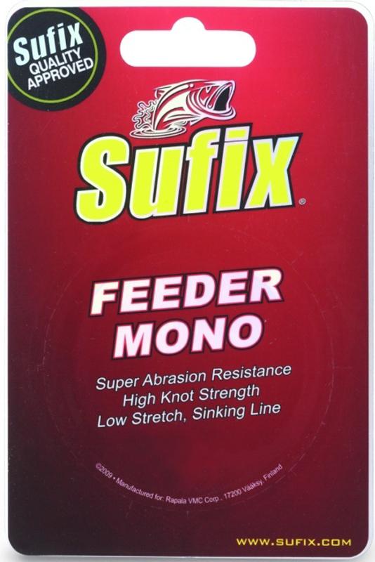 Леска Sufix Feeder Mono, цвет: красный, 0,23 мм, 300 м, 4,4 кгSFM23BU300Растяжимость - главный недостаток, заставляющий любителей фидера пренебрегать использованием монолесок. Но леска Sufix Feeder Mono способна опровергнуть традиционные представления рыболовов. Инженерам американской компании Sufix удалось создать мононить с минимальной растяжимостью. Обычная практика позволяет использование монолесок только в прибрежной ловле пикером или фидером на дистанции не более 25-3 0 метров. Если на шпуле фидера будет намотана эта инновационная леска Sufix Feeder Mono, квивертип вашей снасти легко отметит самые осторожные поклевки на любой дистанции. В серии американской компании представлены диаметры монолесок от 0,14 до 0,28 мм, способные обеспечить потребности как легких, так и тяжелых фидеров. Обладая главным достоинством плетенки, леска Sufix Feeder Mono начисто лишена следующих ее недостатков:Монолеска не обладает таким абразивным воздействием на кольца, не так шумит при забросах, и способна значительно продлить срок жизни снасти;Плетенка все время норовит запутаться. Даже при сходе со шпули, она часто складывается в петли и непроизвольные узлы.
