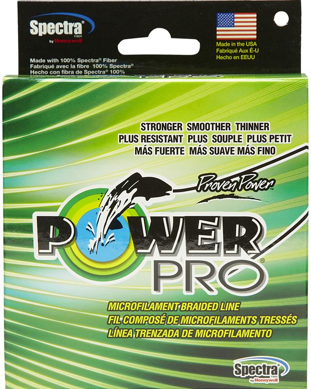 Леска плетеная Power Pro, цвет: зеленый, 135 м, 0,41 мм, 40 кгPP135MGR041Power Pro - плетеные лески (шнуры) производятся из тончайших волокон различных высокопрочных и высокомодульных материалов. Лески Power Pro изготовлены в США из 100 % микроволокна SPECTRA FIBER. Тончайшие волокно, плотное плетение и дополнительное покрытие обеспечивают высокую прочность на узлах и минимальное трение при прохождении колец. Шнур обладает высокой надежностью в самых экстремальных условиях.При использовании легких приманок: выбор диаметра power pro также прост как обычно используемой вами монолески. Например, если вы обычно используете монолеску с мощностью на разрыв 4 кг, то Power Pro такого же диаметра выдержит 15 кг. При использовании тяжелых приманок: если вы обычно используете монофил или Dacron с мощностью на разрыв 25 кг, то power pro предложит вам нить такой же мощности значительно меньшего диаметра.