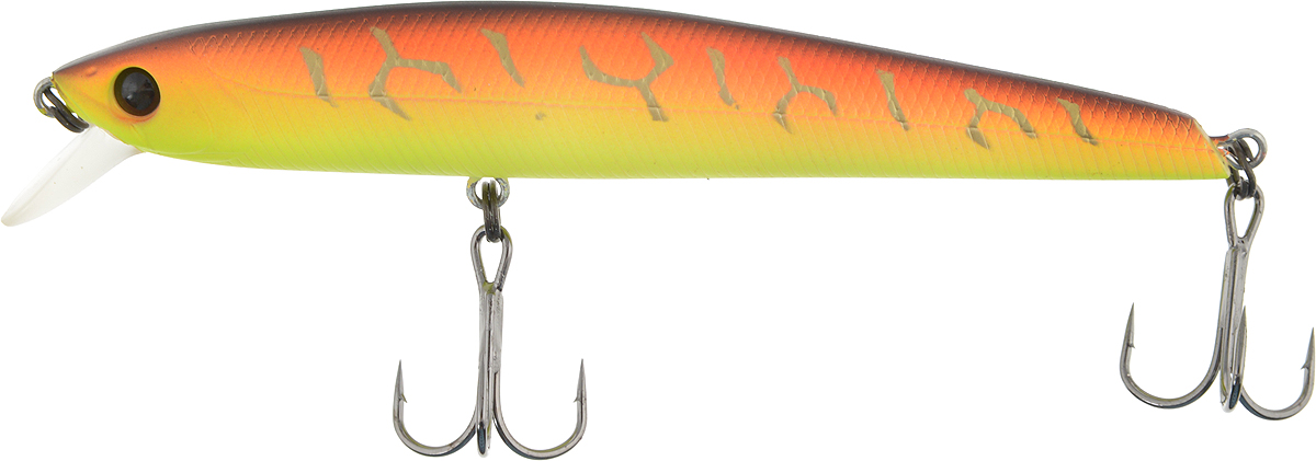 Воблер Tsuribito Smash Minnow 90F, цвет: желтый, оранжевый (029), длина 9 см, 7 г воблер tsuribito baby shark f цвет 029 70 мм