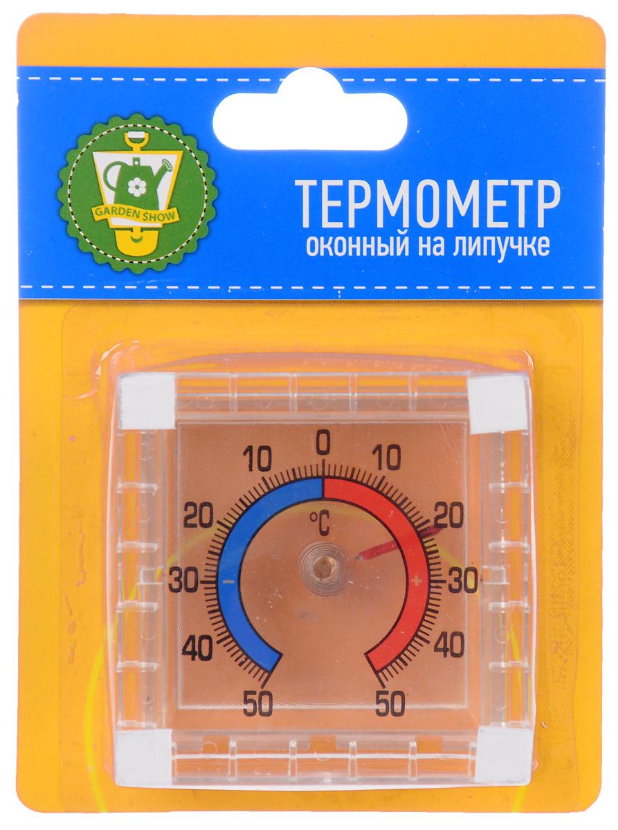 Термометр оконный Garden Show, на липучке, 7,5 х 7,5 х 2,5 см зажим для крепления пленки к каркасу парника garden show диаметр 20 мм 10 шт