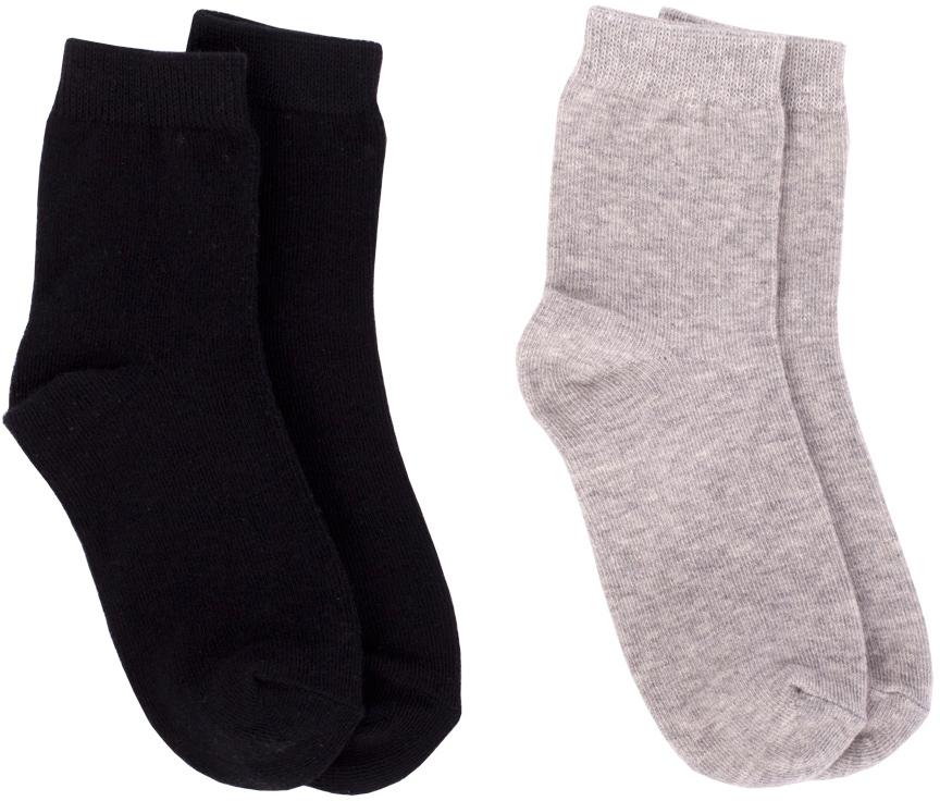Носки для мальчика Button Blue, цвет: черный, серый, 2 пары. 217BBBU85011900. Размер 14 носки купить