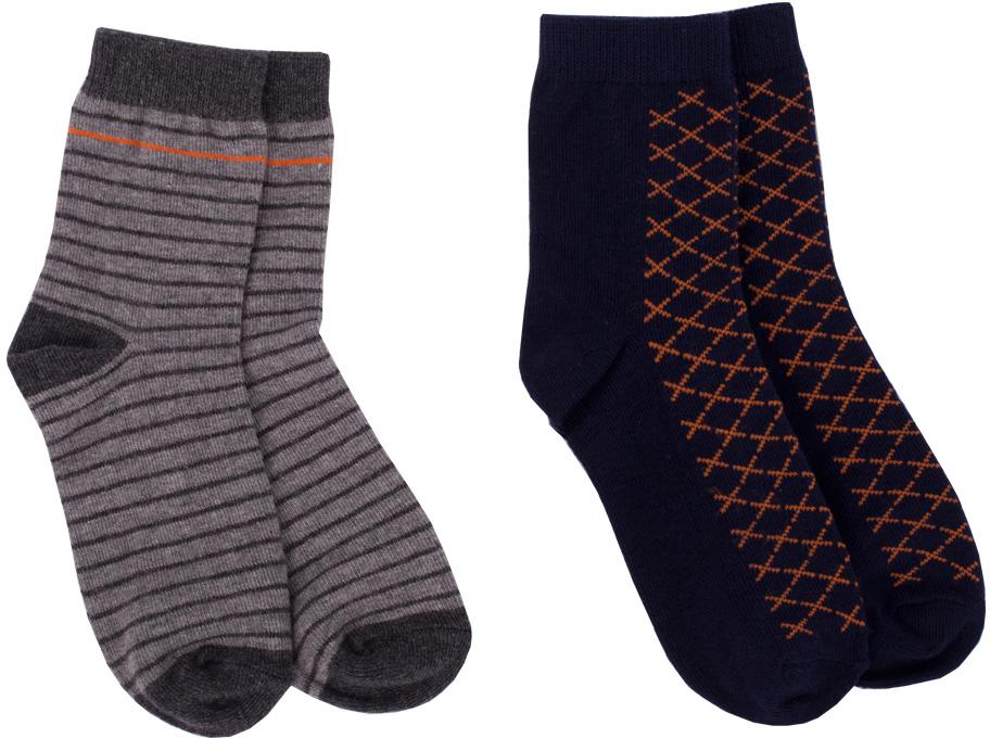 Носки для мальчика Button Blue, цвет: серый, 2 пары. 217BBBU85012305. Размер 22217BBBU85012305Детские носки - необходимая вещь на каждый день. И их в гардеробе ребенка должно быть немало. Если вы решили дополнить осенне-зимний гардероб ребенка хлопковыми носками, вам необходимо купить комплект из двух пар. Вы думаете, что хорошие и недорогие носки - это невозможно? Носки от Button Blue убедят вас в обратном!