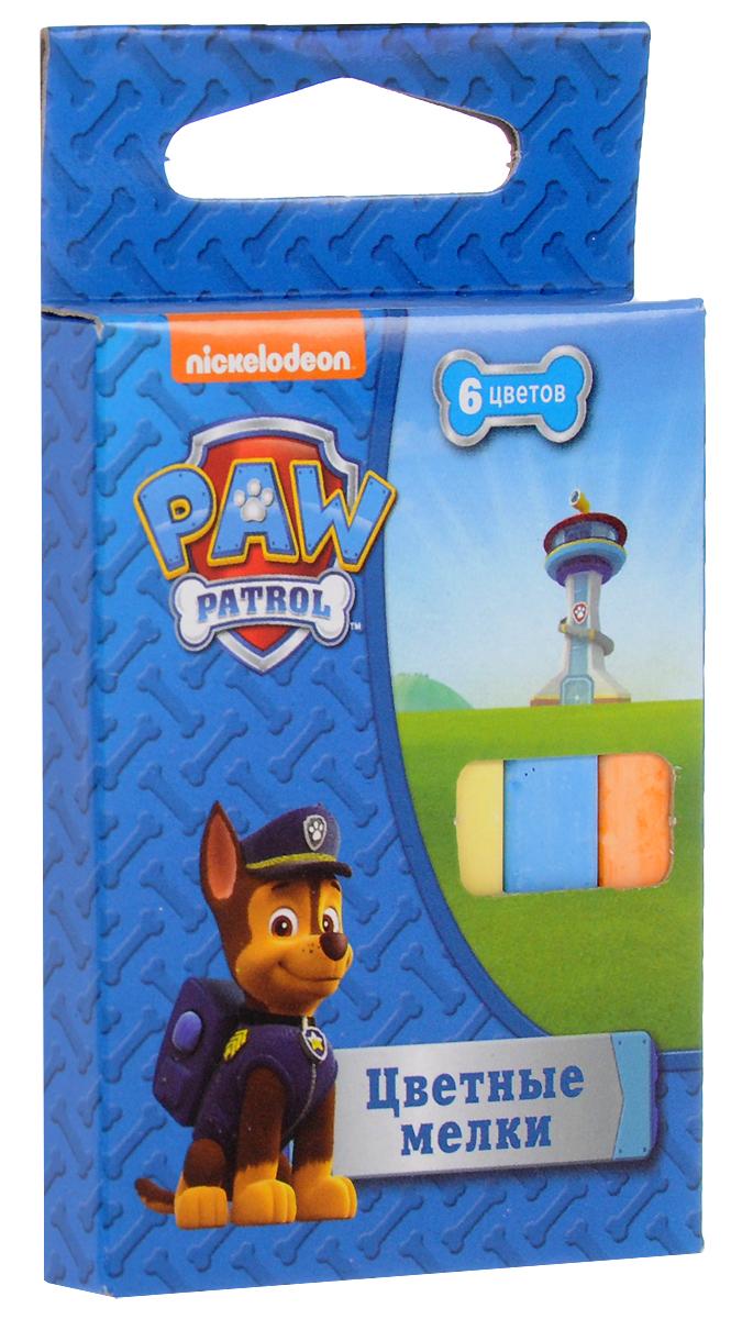 Paw Patrol Мелки 6 цветов2311029Набор цветных мелков поможет детям создавать яркие большие картины на асфальте и других шероховатых поверхностях, развивая их творческие способности, воображение, цветовосприятие и моторику рук. В набор входит 6 разноцветных мелков с удобным квадратным сечением. Мелки имеют яркие цвета, прочны, устойчивы к стиранию.